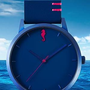 Maro Cevalo Minimalist watch analog blue