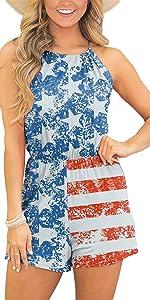 American Flag Rompers