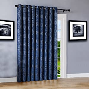roberta curtains blackout panel pair insulated thermal embossed patio door drape swag textured 100 %
