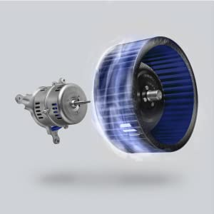 powerful motor with strong suction inside the kitchen fan