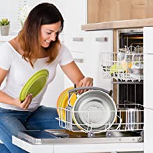 very easy to clean, Easy washing by hand, dishwasher friendly, can be clean by dishwasher