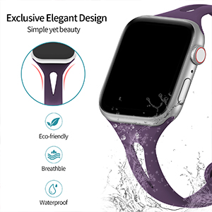 Soft Waterproof Silicone Apple Watch Bands