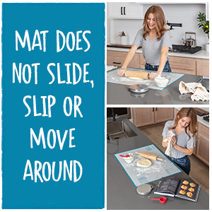 This pastry mat does not slip, slide or move around