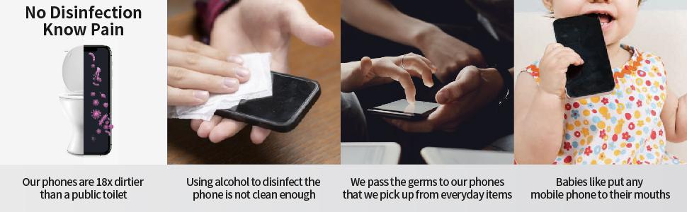 UV Light Sanitizer Box, UVC Sterilizer for Smartphone, Nail Art Make up Tools