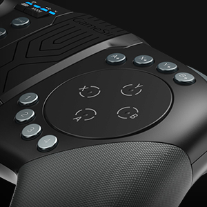 Full-Haptic Trackpad and Surrounding 8-Button layout