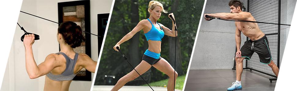 Bandas Elasticas Musculacion 150lbs Gomas Elasticas Fitness 100% Látex Natura con 5 Diferentes Niveles Antideslizante Y Duradero Adecuado Mujer Hombre ...