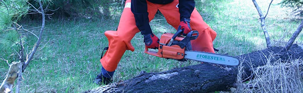Forester Chainsaw Chaps In Use