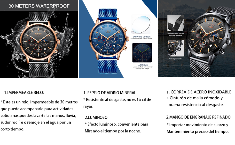 Impermeable Relojes