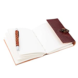 notebook leatherbound writing women paper poetry vintage notebooks mens cover small diary journal