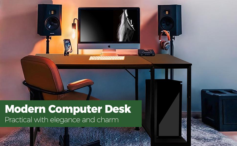 modern simple wood desk