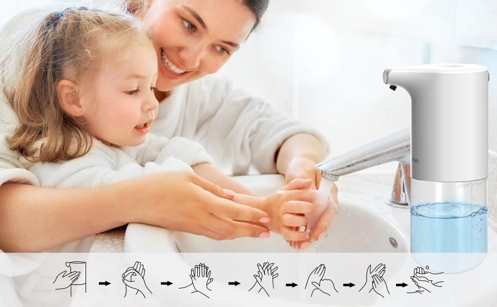 Automatic Soap Dispenser lets children love washing hands.Touchless Infrared Motion Sensor Soap.
