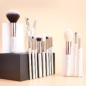 Rose Gold makeup brushes set