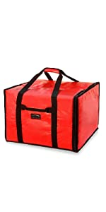 """20"""" by 19"""" by 13"""" Red Pizza Bag"""