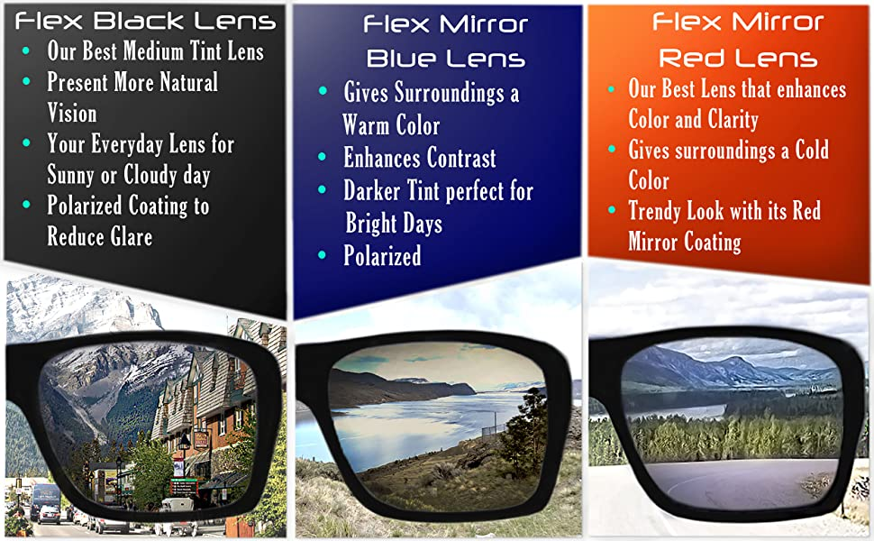 blue red yellow amber black hd mirror revo uv protection anti glare lens unbreakable sunglasses