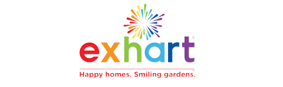exhart rainbow logo happy homes smiling gardens