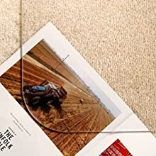 Transparency chair mat for carpet or hard floor