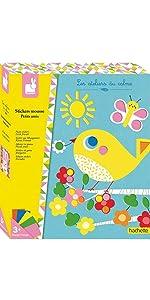 Janod Crafts Little Friends Soft Foam Stickers Mosiac Art Kit