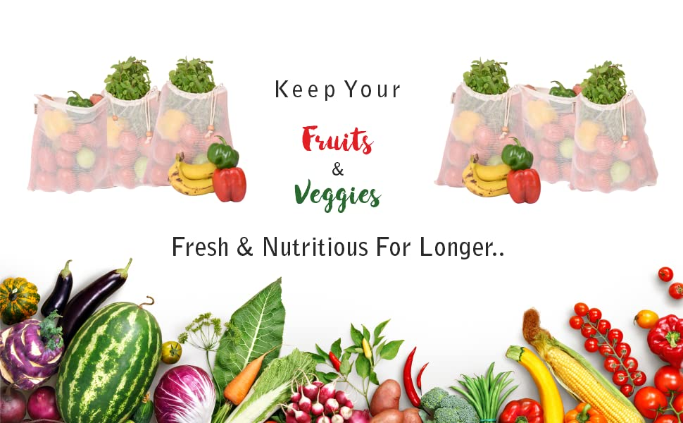 fridge vegetable storage bags