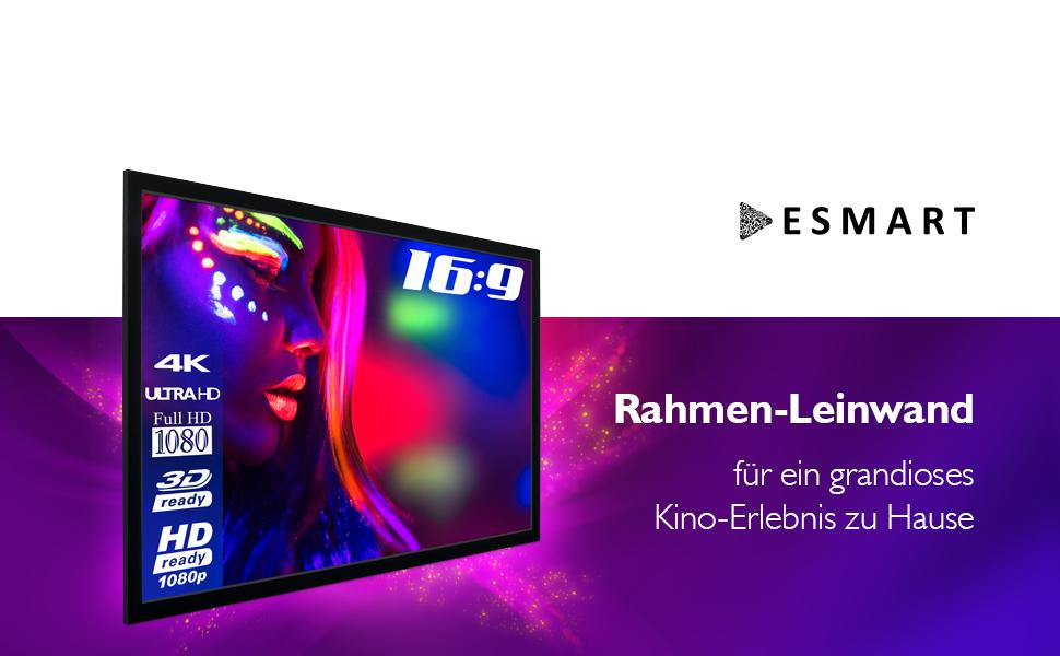 """ESMART Economy EXF Rahmen Leinwand   200 x 113 cm (90"""")   Format 16:9"""