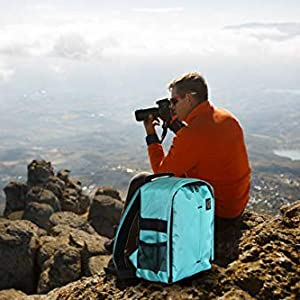Waterproof DSLR Backpack Camera Bag Backpack holds and protects 2 smaller SLR camera