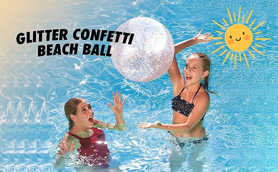 glitter confetti beach ball