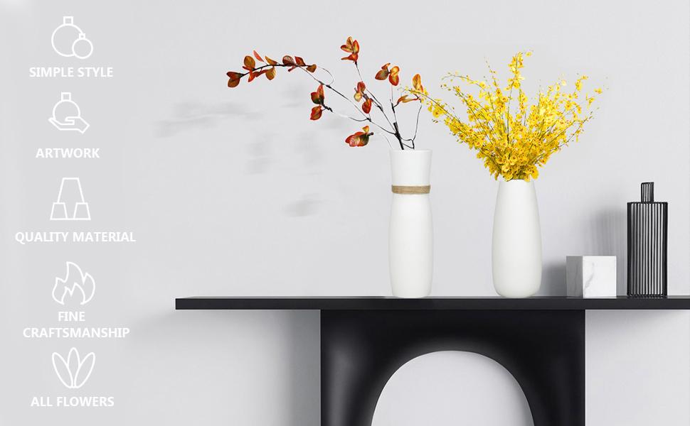 unique pottery vase bamboo ceremic vase ceamic vase hite vase pryce vase fireplace vace tall