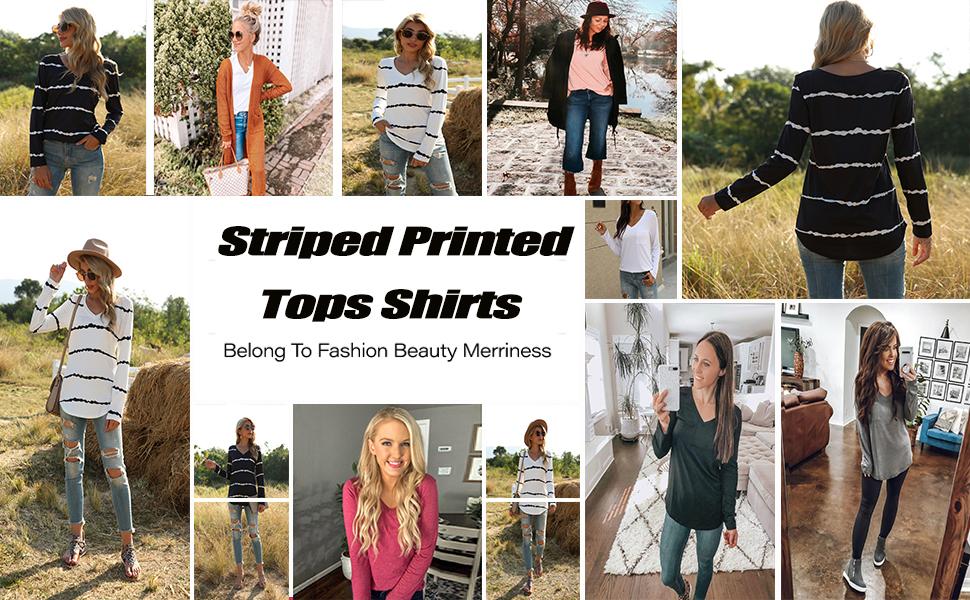 Stripes tops for women