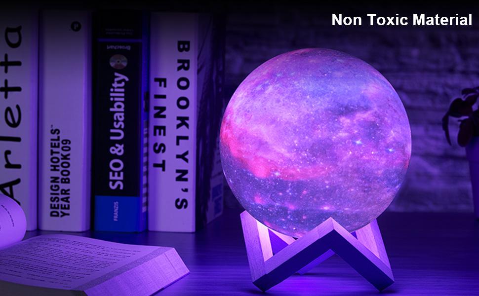 GUOYIHUA Impresi/ón 3D Luz de la Luna 15 cm LED Luz de la Noche Regulable Control t/áctil Carga USB Regulable Brillo L/ámpara de Noche Decoraci/ón para EL hogar