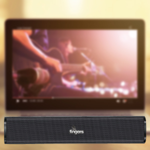 FINGERS F2.0 USB Speaker connected to a TV