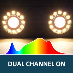 bigg grow led light full spectrum both channels on