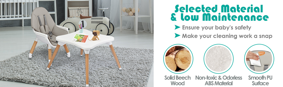 infant high chair with premium material
