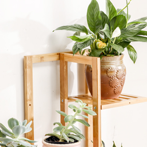 Bamboo 5 Tier 6 Potted Plant Stand Rack