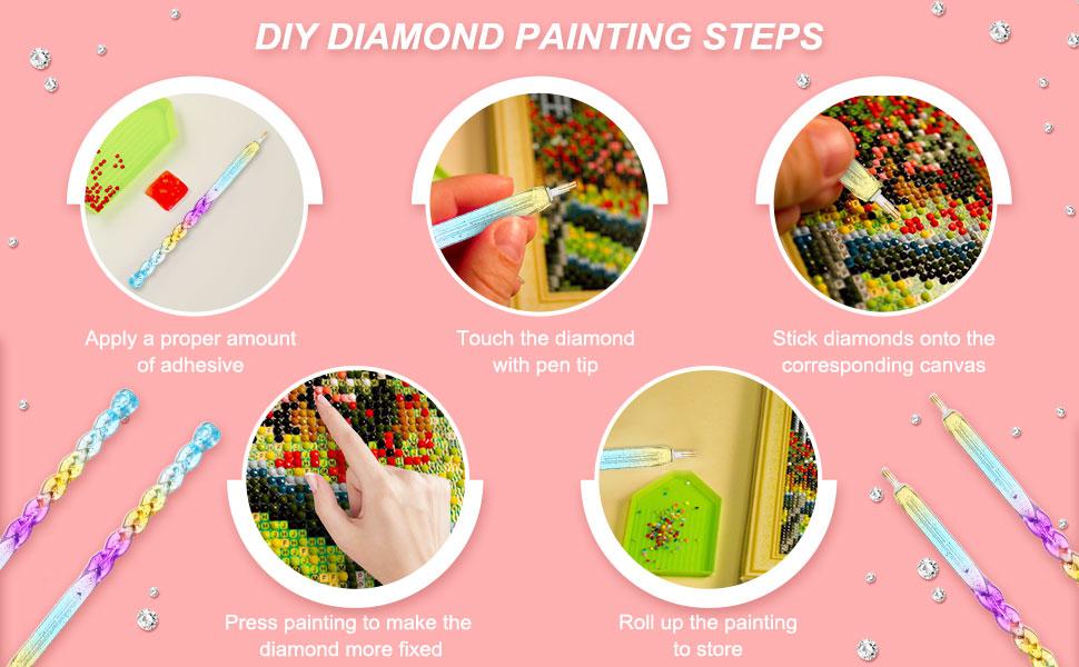 zum Nähen Diamond Painting Tool 5D Diamond Painting Beleuchtung Point Drill Pen