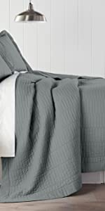 Yuma 3-Piece Quilt Set, Paloma Gray