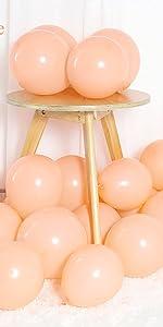 orange balloons,blush balloons