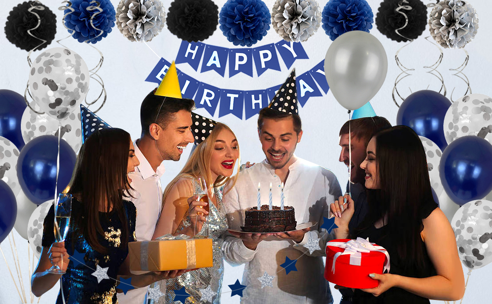 Blue Birthday Decoration For Men and Boy