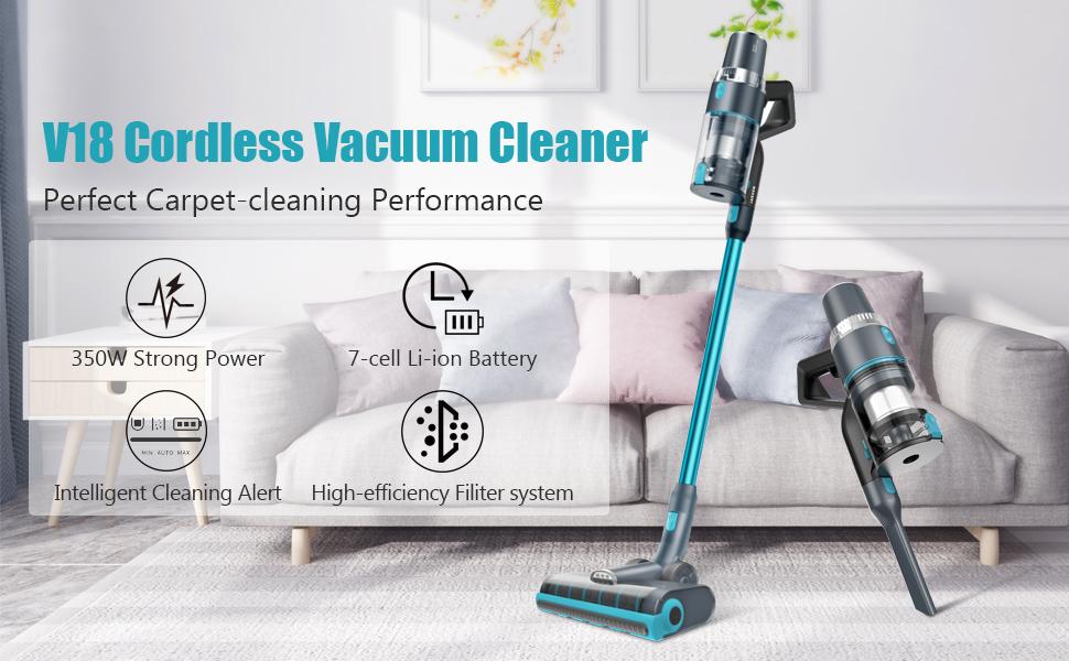 V18 cordless vacuum cleaner