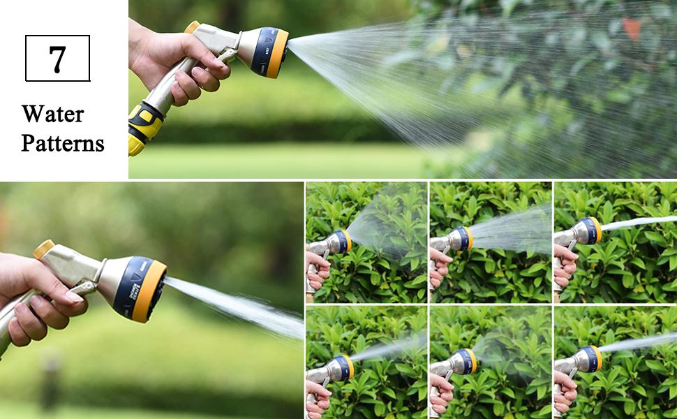 Pistolet darrosage haute pression avec buse en laiton Pulv/érisateur manuel en m/étal robuste pour lavage de voiture//arrosage de pelouse et jardin