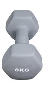 Arteesol - Juego de 2 mancuernas de neopreno de 10 kg/8 kg/5 kg/4 kg/3 kg/2 kg/1 kg, pesas para levantamiento, para hombres y mujeres, 10 kg.