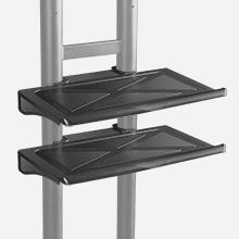 Double AV shelves + upper shelf