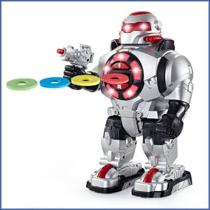 TG542-VR - RoboShooter Remote Control Disk Firing Robot Toy for Kids