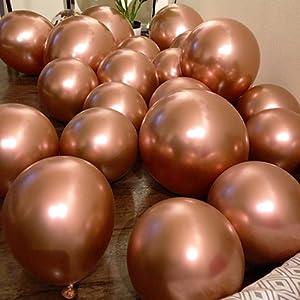 Metallic Rose Gold Balloons