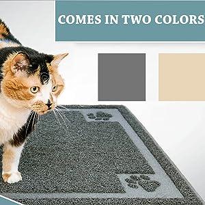 gray or beige littter mats