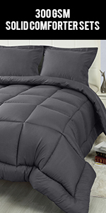 300 GSM Quilted 3 Piece Comforter Set