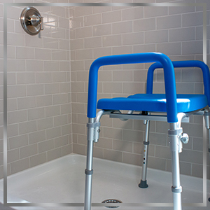 ultimate positioned in shower suggesting that it can also be used in the shower