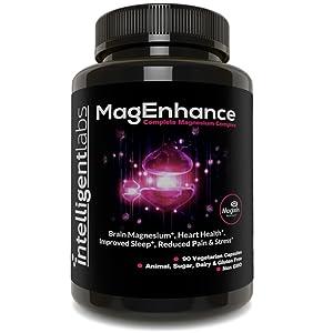 Intelligent Labs Complemento de Magnesio MagEnhance, Complejo de L-Treonato de Magnesio, con Glicinato y Taurato de Magnesio, Vitamina de Magnesio: Amazon.es: Salud y cuidado personal