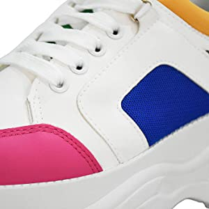 Color1-29 Double luck Running Shoes Children Fashion Sneakers Chunky Dad Sneaker Lightweight Shoe