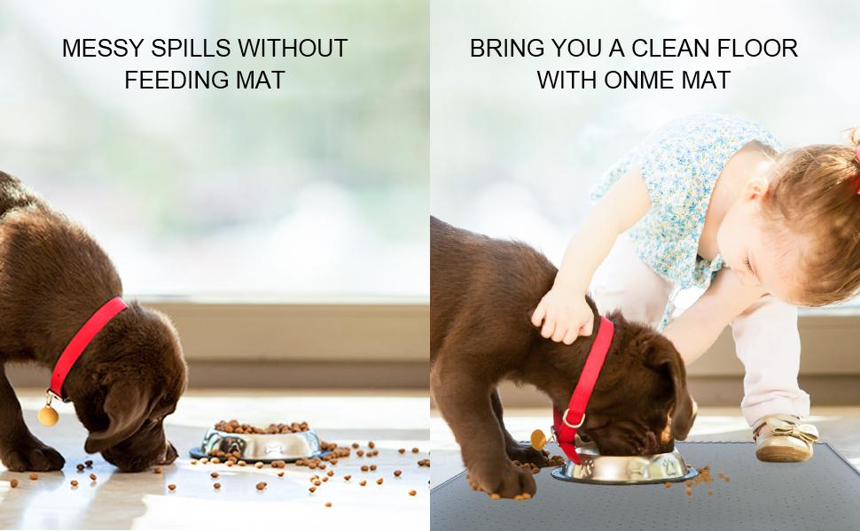 Large dog feeding mat
