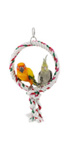 Parrot Circle Ring Cotton Rope Bird Cage Chewing Toys Bungee