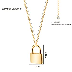initial necklace lock necklace gold necklace christmas gift